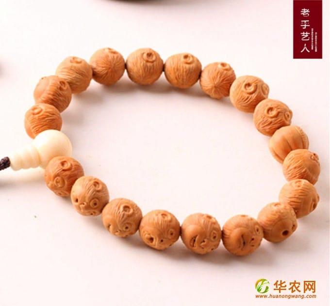 16-猴头核桃-核雕猴头手串-1