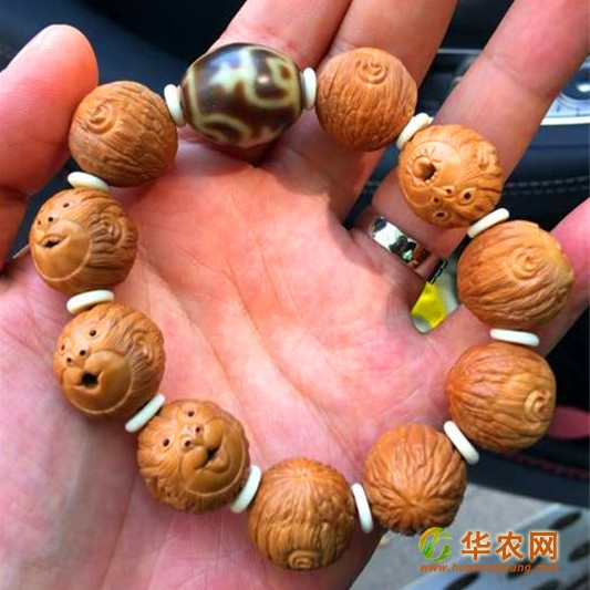 18-猴头核桃-核雕猴头手串-2